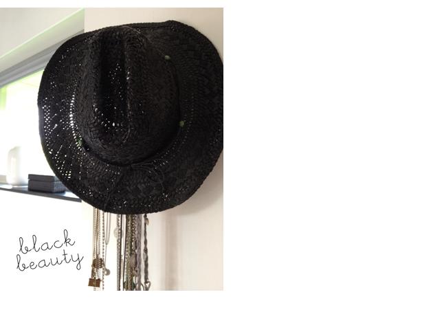 Zomers zwart hoed