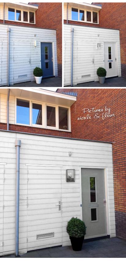Welke kleur wordt de voordeur interieur design by nicole fleur - Exterieur kleur eigentijds huis ...
