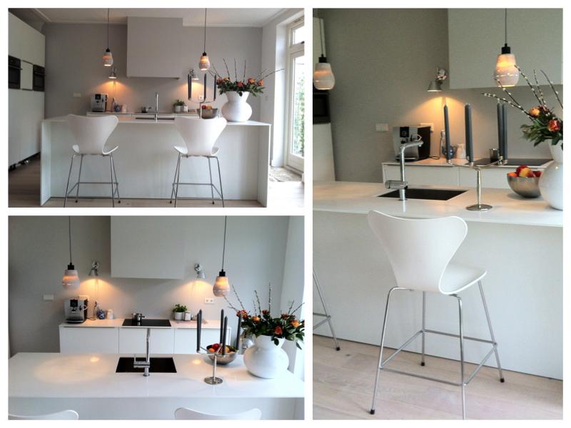 Witte keuken interieur design by nicole fleur - Ontwerp witte keukens ...