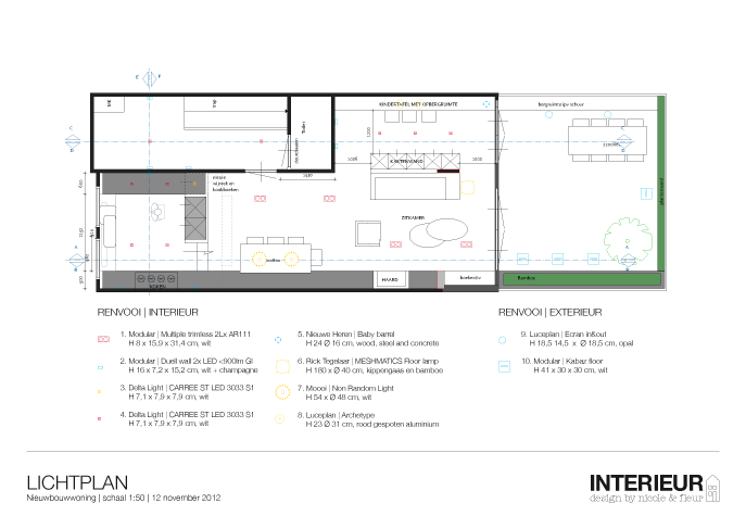 Badkamerwisser Chroom ~ Lichtplan  Interieur design by nicole & fleur
