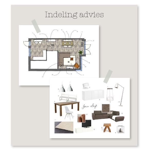 Indeling advies interieur design by nicole fleur for Design interieur advies d i a