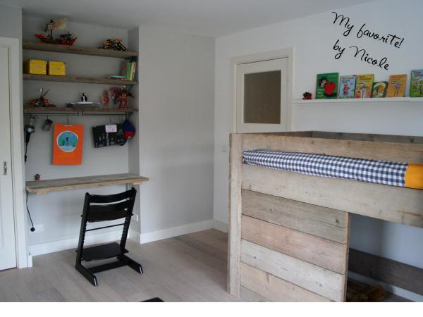 Stoere kinderkamer met steiger hout - Jongens kamer decoratie ideeen ...