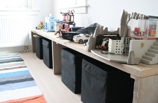 jongens kamer met steigerhout Interieur design by nicole & fleur