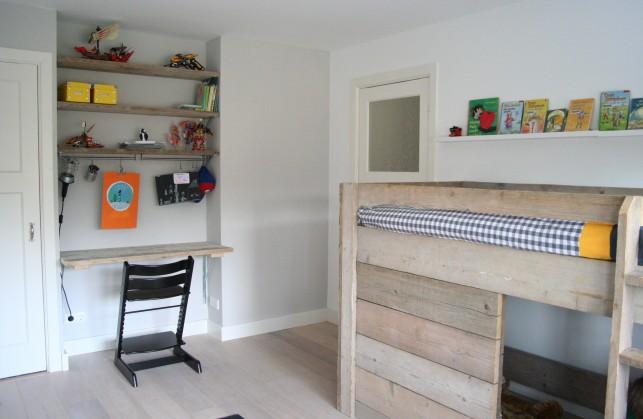 Jongens kamer met steigerhout interieur design by nicole fleur - Kamer decoratie jongen jaar ...