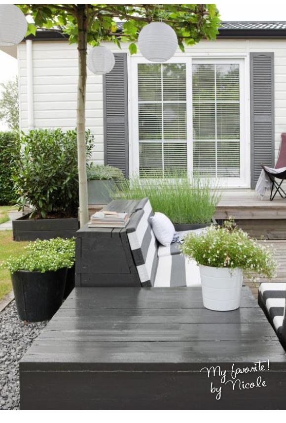 Modern klassieke tuin for Klassiek moderne inrichting