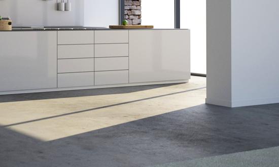 Witte Keuken Betonvloer : Echt beton en beton-look in het interieur ...