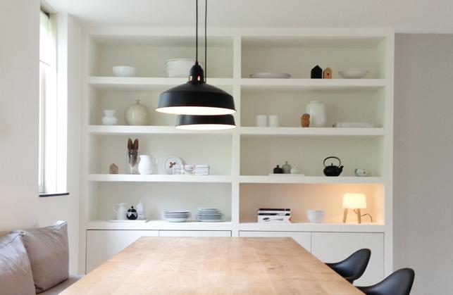 Een inbouwkast op maat voor de eetkamer interieur design by nicole fleur - Kleur voor de eetkamer ...