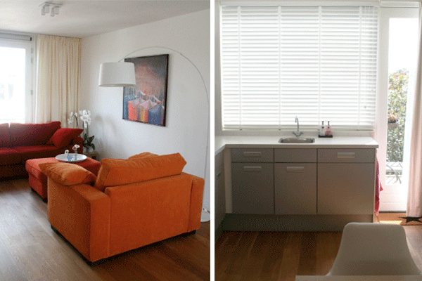 Een nieuw ingericht appartement met kleur interieur design by nicole fleur - Kleur corridor appartement ...