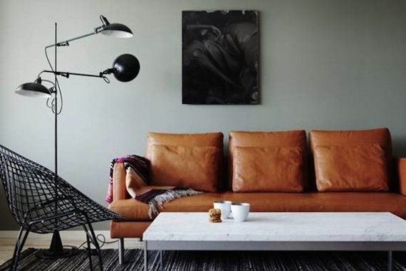 leren bank Interieur design by nicole  u0026 fleur