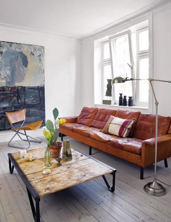 Leren Bank Interieur Design By Nicole amp Fleur