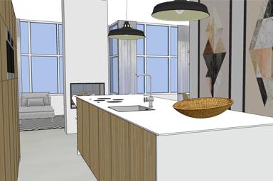 De 3D interieur visualisatie: kantoor tot woning