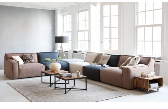 flexibel zitten met een modulaire bank interieur design by nicole fleur. Black Bedroom Furniture Sets. Home Design Ideas