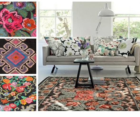 Rozenkelims en recoloured vloerkleden geven kleur aan jouw ...