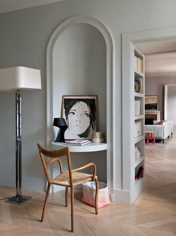Klein kantoor thuis interieur design by nicole fleur - Architect binnen klein gebied paris ...