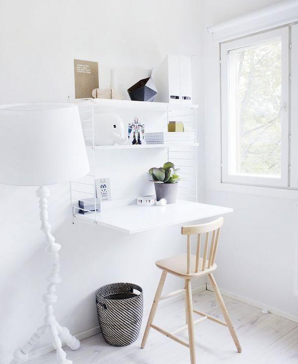 Klein kantoor thuis interieur design by nicole fleur - String kantoor ...