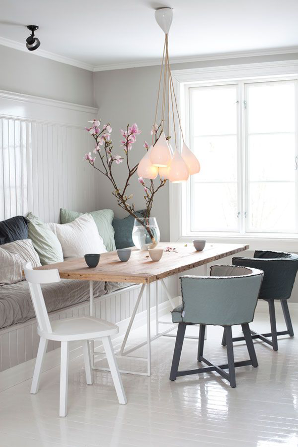 ... creëert ruimte in jouw eethoek  Interieur design by nicole & fleur