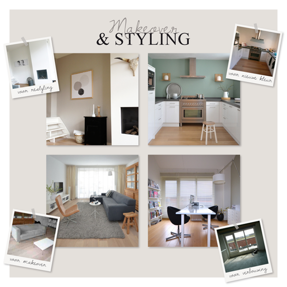 Interieur makeover en restyling opdrachten for Interieur styling vacatures