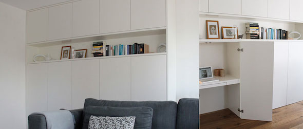 Klein kantoor thuis interieur design by nicole fleur for Kantoor in woonkamer