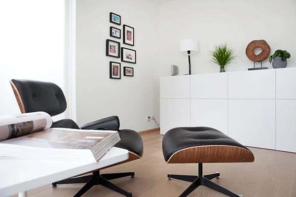 open vergroting van het ontwerp en realisatie van een woonkamer