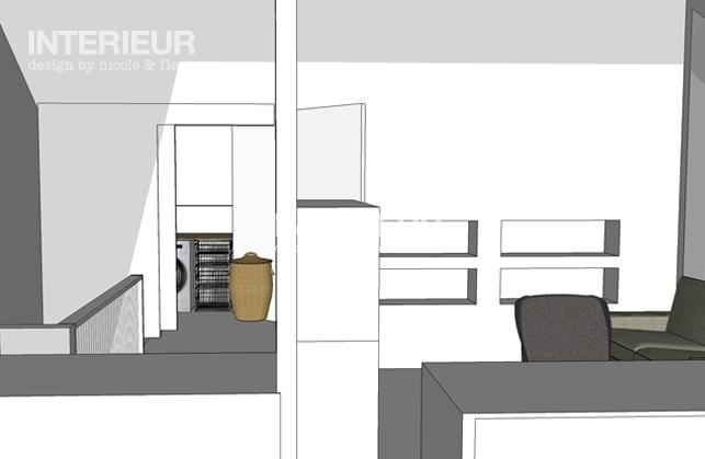 Zolder ontwerp afgerond interieur design by nicole fleur for Interieur tekenen