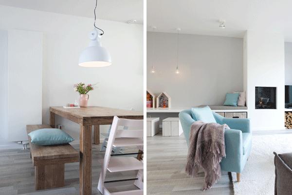 Een romantische woonkamer |
