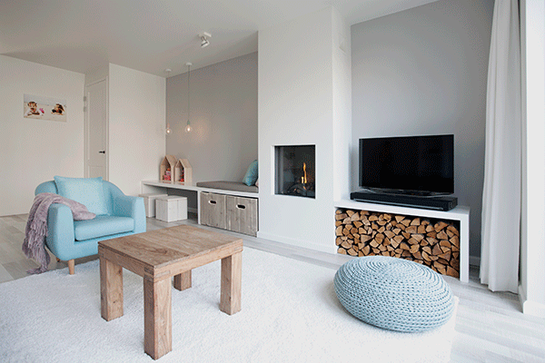 Een romantische woonkamer interieur design by nicole fleur Woonkamer design