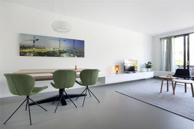 Gerestylde woonkamer in IJburg