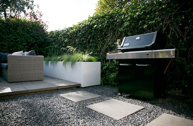 Tuinontwerp strakke onderhoudsvriendelijke tuin for Mtr landscape architects