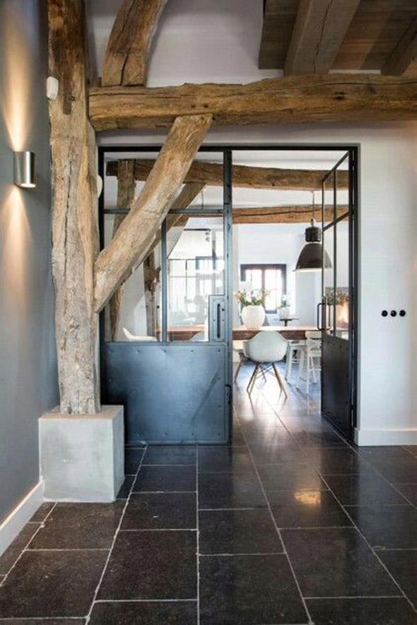 Stalen deuren zijn een prachtige eye catcher in elk huis interieur design by nicole fleur - Interieur oud huis ...