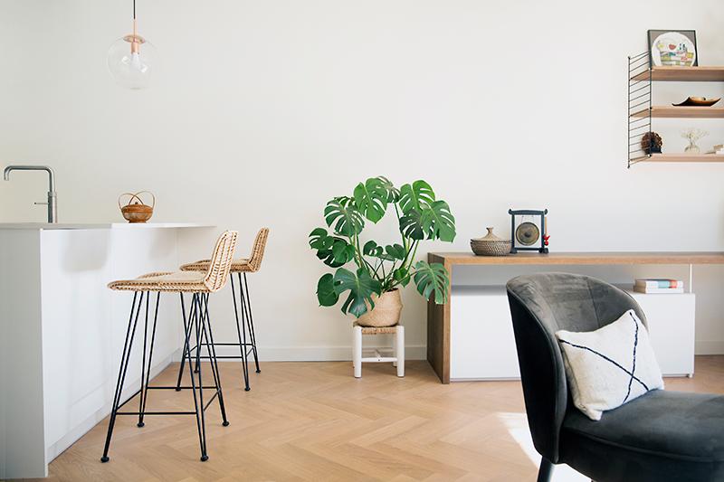 interieuradvies en verbouwing woonkamer jaren 70 woning