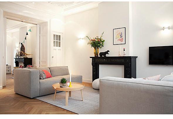 Herenhuis in amsterdam - Keuken en woonkamer in dezelfde kamer ...