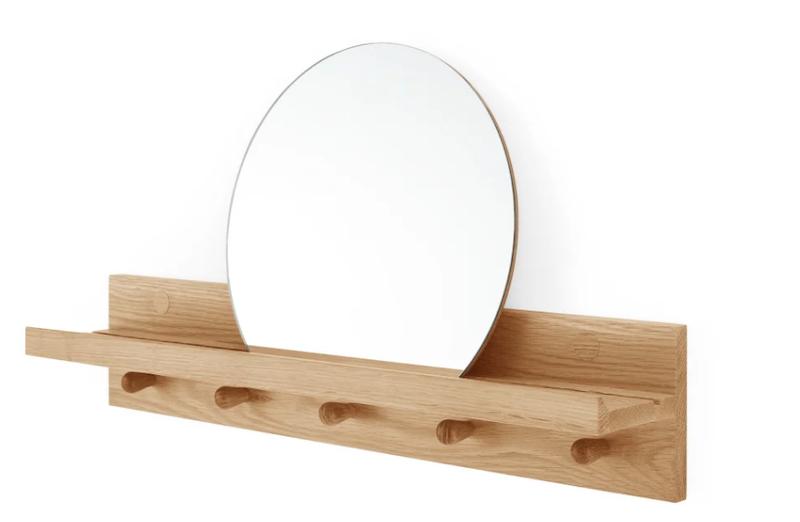 Wandplank met spiegel voor hal